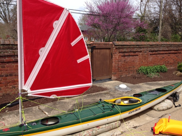 homemade kayak sail