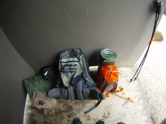 Normal backpacker kit compared to simpler setup
